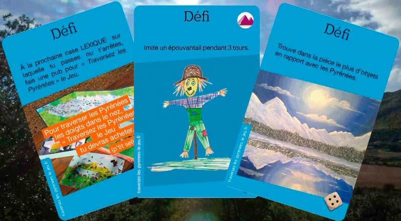 """Cartes """"Défis"""" pour """"Traversez les Pyrénées en Ski ou par le PIemont"""""""